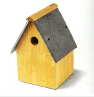 Tit Nest Box with Slate Roof - 28mm entrance