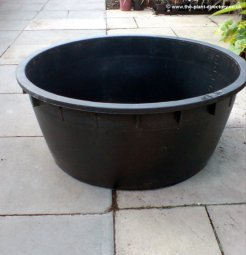 Victoria 240 litre round pond and water feature reservoir for Plastic pond tub