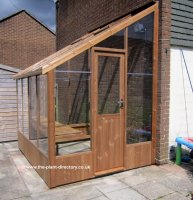 Pine Lean-to Greenhouse with Safety Glass 8'4 x 6'7