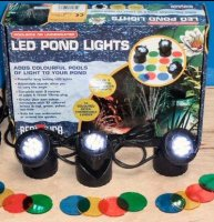 Triple LED Light Set for Ponds and Water Features