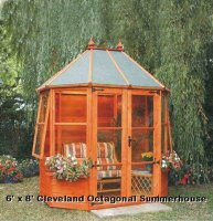 Octagonal Pine Summerhouse 8' x 6' inc. Vat and Delivery