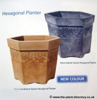Sylvan Hexagonal Planter - Light Granite Colour