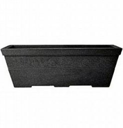 Sylvan Trough Planter - Dark Granite