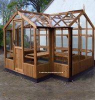 Lakeside Timber Greenhouse with Standard Door 11'5 x 6'8