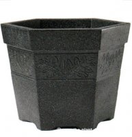 Sylvan Hexagonal Planter - Dark Granite Colour