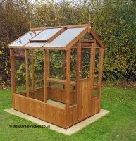 Modern Timber Greenhouse with Saftey Glass 6'4 x 4'8