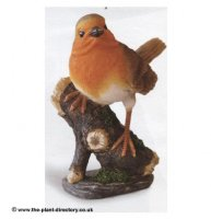 Robin Red Breast on Log - Garden Decoration