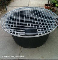 112cm Round Reservoir with Water Feature Grid
