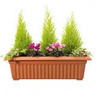 Corinthian Trough Garden Planter - 70cm - Terracotta