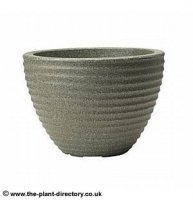 Low Honey Pot Planter - Marble Green 37cm