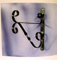 Hanging Basket Bracket - Traditional Black - 30cm