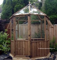 Octagonal Timber Greenhouse 6ft x 6ft including Free Delivery