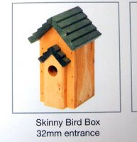 The Skinny Bird Pitched Roof Nesting Box