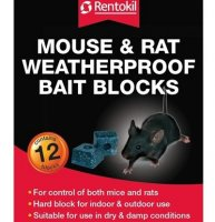 Rentokil Mouse and Rat Bait Blocks - 12 pack