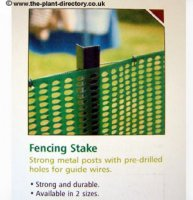 Fencing Stake - Angled Steel - 1.5m Black