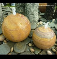 Rainbow Sphere Sandstone Water Feature - 30cm