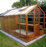 Greenhouse Shed Combination 12'7 x 6'8 Greenhouse + 4'3 Shed