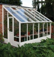Painted Lean-to Greenhouse 12'7 x 6'7 Lily White