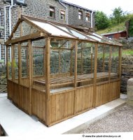 Traditional Timber Greenhouse 8ft x 8ft with Double Door