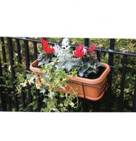 Balcony Trough Set with drip Tray - 40cm Terra