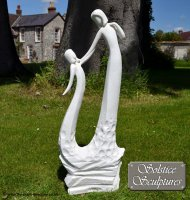 Mothers Love Statue in White