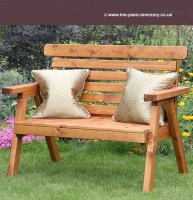 Classic Garden Bench in Swedish Redwood - 2 seat