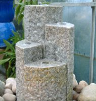 Four Column Granite Tower Water Feature