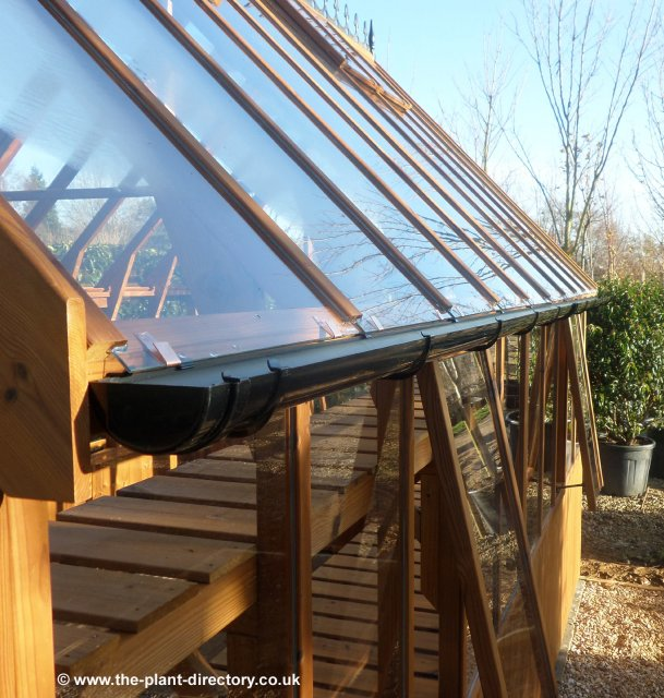 Timber Lean-to Greenhouse with Safety Glass 12'7 x 4'6 - Click Image to Close
