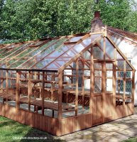 Extra Large Timber Greenhouse with Safety Glass 12'7 x 13'1
