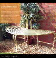 Versailles Half Circle Tree Seat - reduced to clear