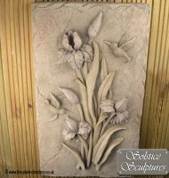 Lilac Bud Flower Plaque in Pastel colour
