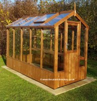 Modern Timber Greenhouse with Saftey Glass 10'5 x 4'8