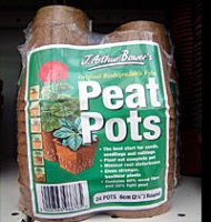 Biodegradable Peat Pots - Round 6cm x 24