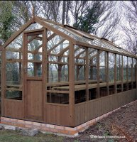 Modern Timber Greenhouse with Safety Glass 14'8 x 6'8