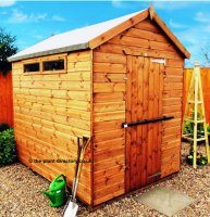 Security Apex Shed 8' x 6' including Vat and Delivery*