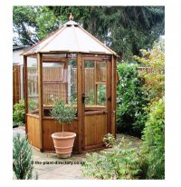Octagonal Timber Greenhouse 8ft x 6ft including Free Delivery