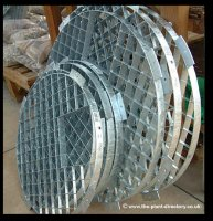 66cm Professional Galvanised Round Water Feature Grid