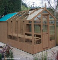 Greenhouse Shed Combination 8' x 6' with Free Installation