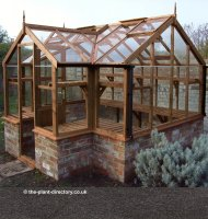 Lakeside Timber Greenhouse with Dwarf Wall 15'9 x 8'9