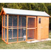Apex Roof Dog Kennel and Run with Free Delivery - 3.6m x 1.2m
