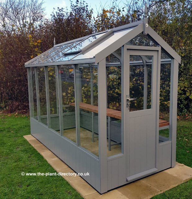 Modern Timber Greenhouse with Saftey Glass 10'5 x 4'8 - Click Image to Close