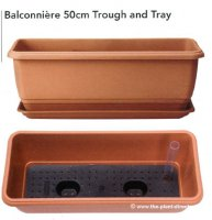 Balconniere Self Watering Trough - 50cm - Terra