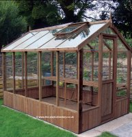 Modern Timber Greenhouse with Safety Glass 8'4 x 6'8