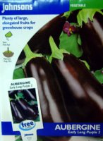 Aubergine Seeds - Early Long Purple 2
