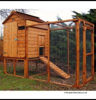 Raised Chicken Coop and Enclosed Run 3m x 1.2m inc Free Delivery