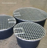 66cm Round Reservoir with 70cm Water Feature Grid