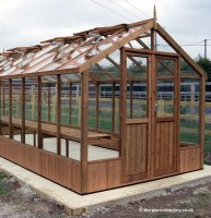 Modern Timber Greenhouse with Safety Glass 20'10 x 8'9