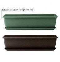 Balconniere Self Watering Trough - 50cm - Green