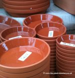 Terracotta Clay Saucers - Glazed