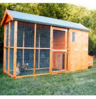 Apex Roof Chicken Coop and Run 3.6m x 1.2m with Free Delivery